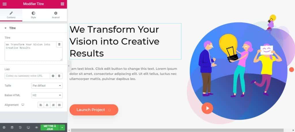 Créer Une Page Accueil WordPress Elementor Gratuit