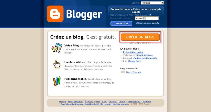 Blogger Creer Un Blog