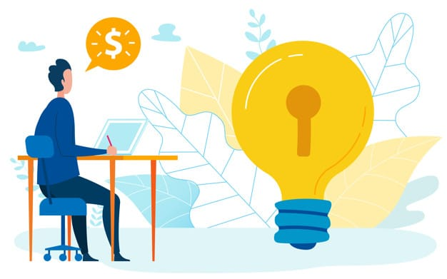 Increasing Profit Idea Flat Vector Illustration