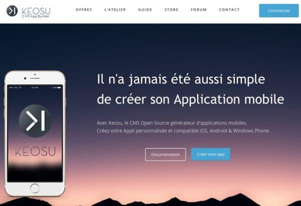 Créer Generateur App Mobile Keosu
