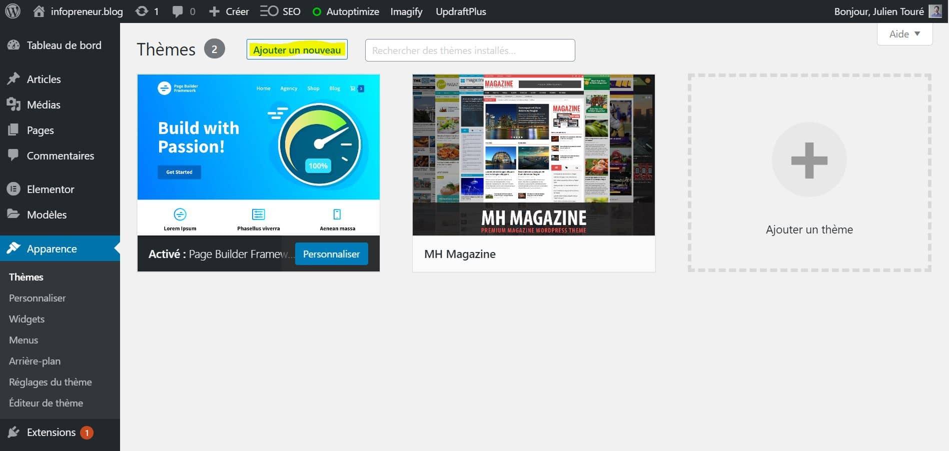 Installer Un Theme WordPress Ajouter Un Nouveau