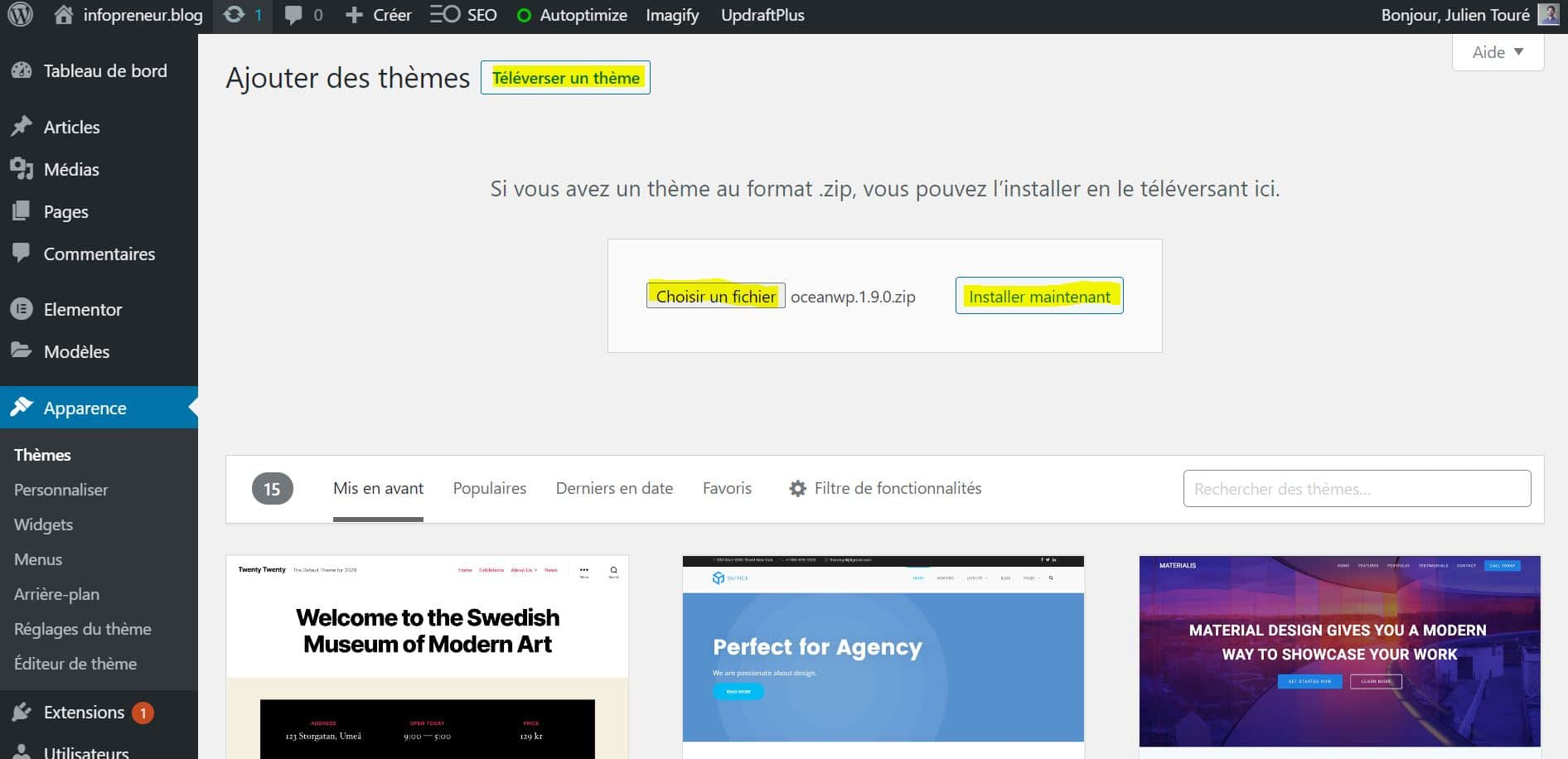 Installer Un Theme WordPress Choisissez Votre Theme