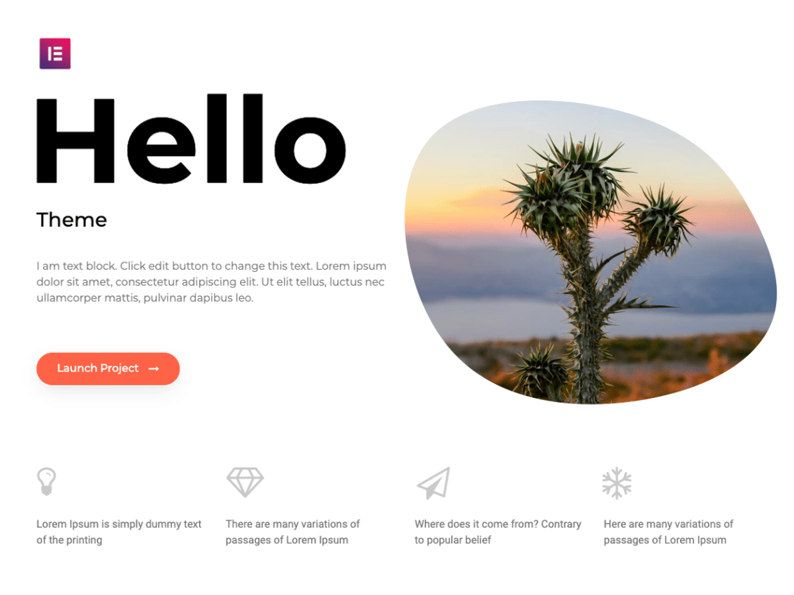 Theme WordPress Hello