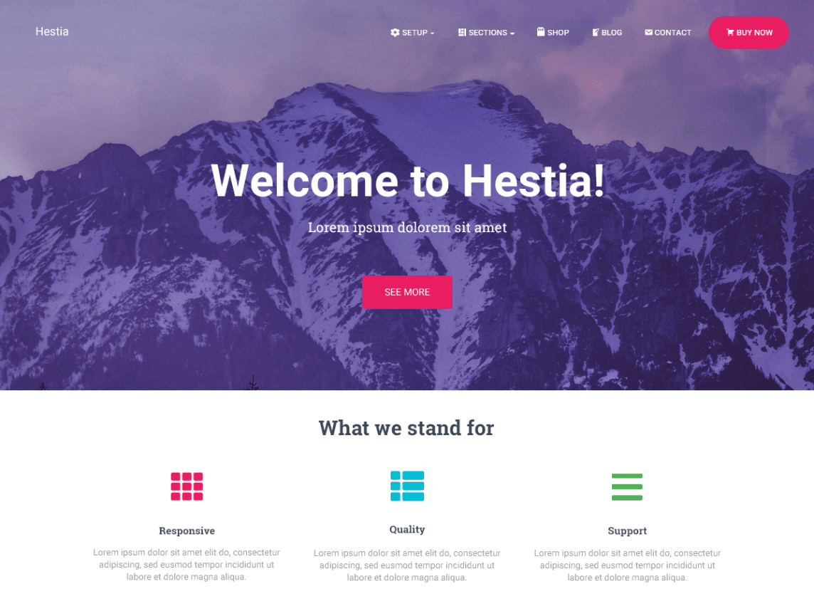 Theme WordPress Hestia
