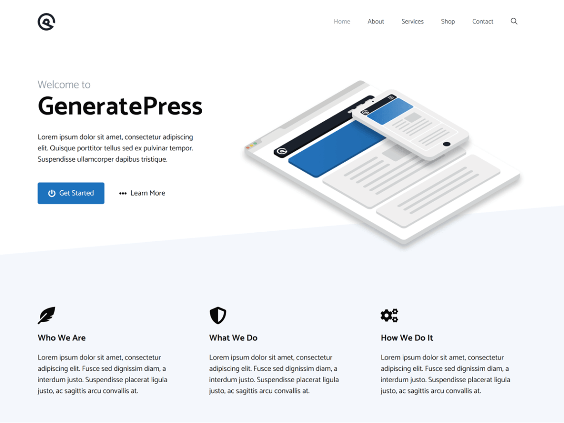 Theme WordPress Generatepress