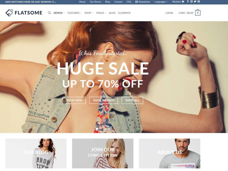 Theme WordPress Premium Flatsome2