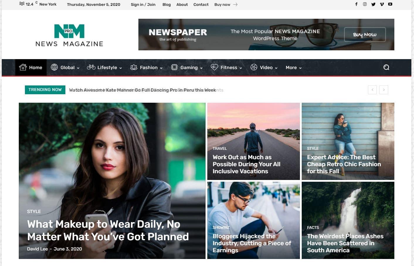 Theme WordPress Premium Newspaper 2