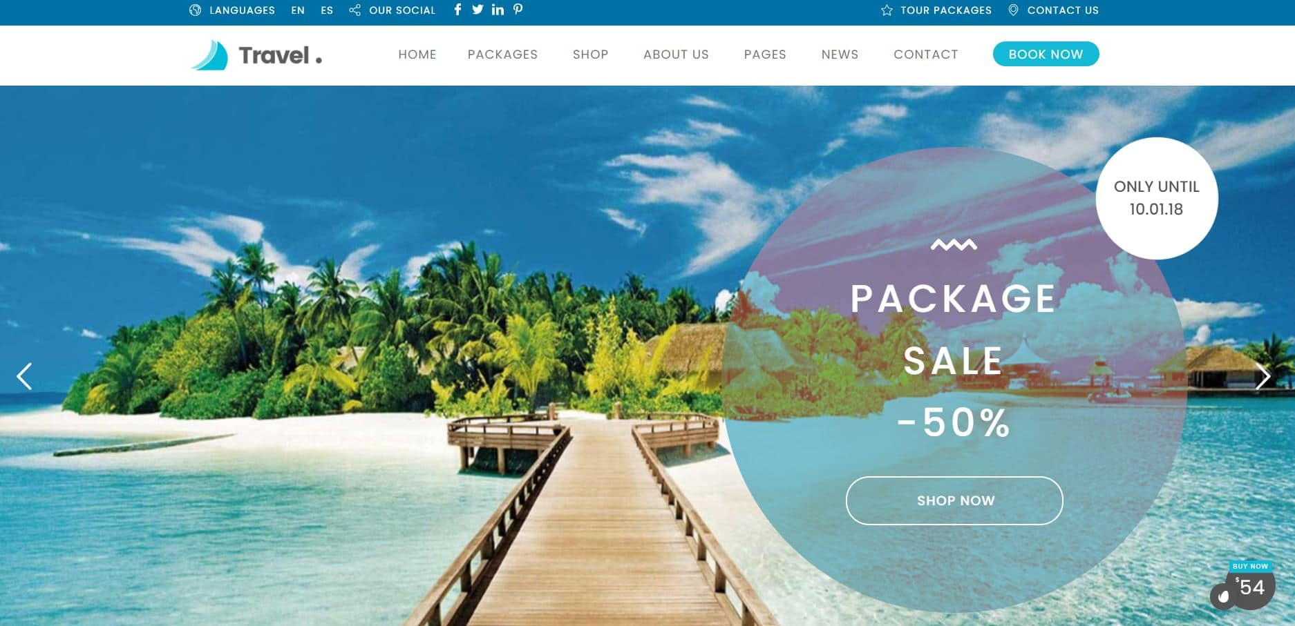 Theme WordPress Premium Travel