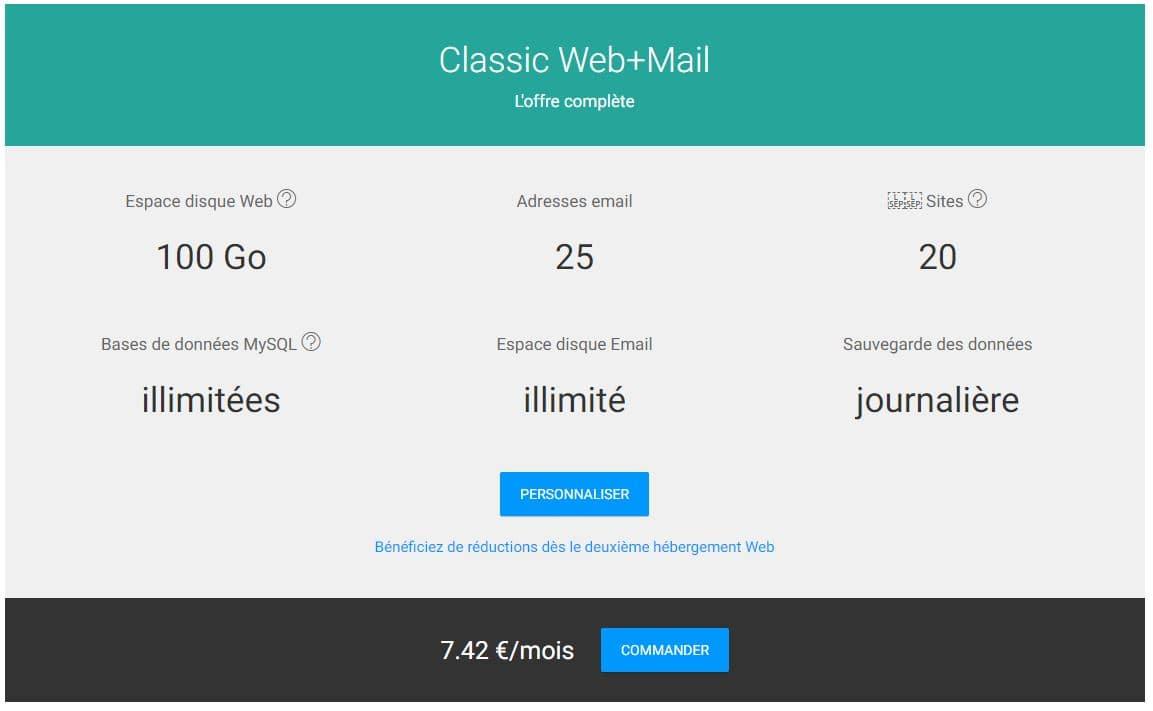 Hébergement Web Infomaniak Classic
