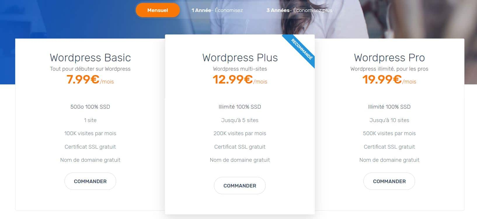 Hébergement Web WordPress Ex2