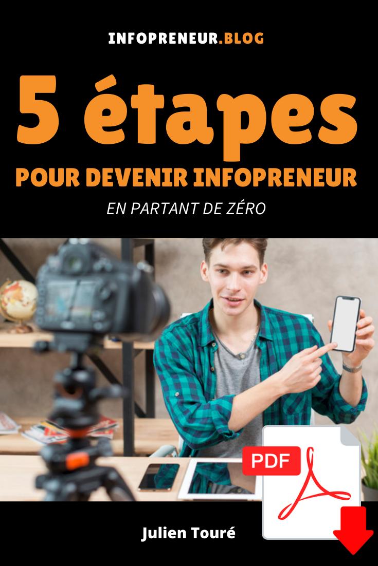 couverture livre pdf ebook infopreneur